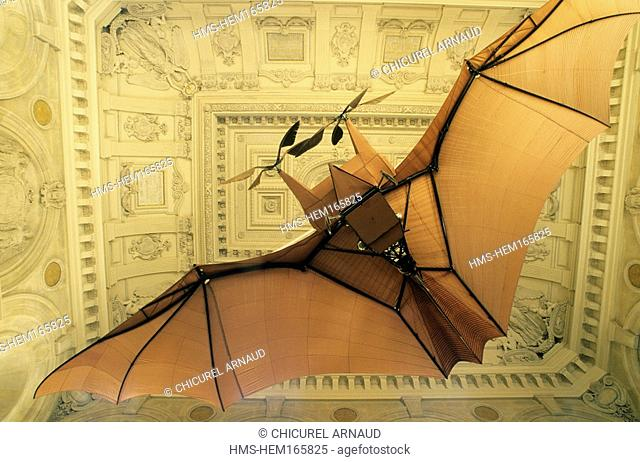 France, Paris, Arts and Crafts Museum, Plane 3 by Clement Ader