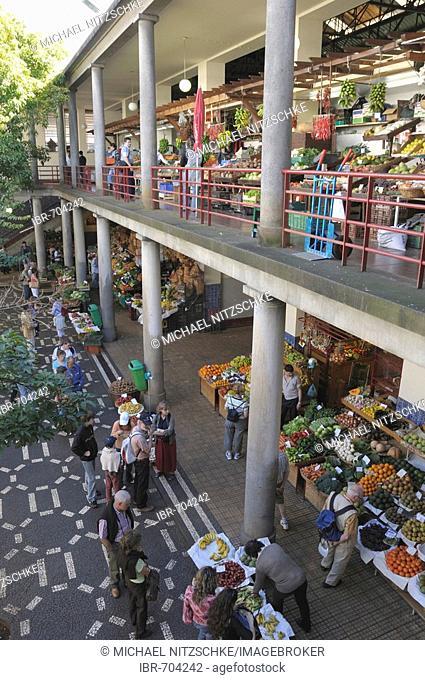 Mercado dos Lavradores, marketplace in Funchal, Madeira, Portugal, Atlantic Ocean