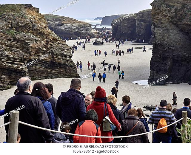 Beach of the Cathedrals (in Galician: praia das Catedrais) is the name of the beach resort of Aguas Santas (in Galician: Praia de Augas Santas)