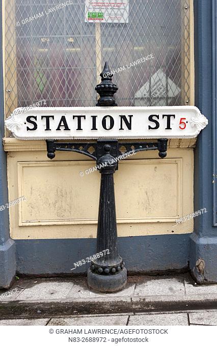 Sign, Station Street, Birmingham, West Midlands, UK