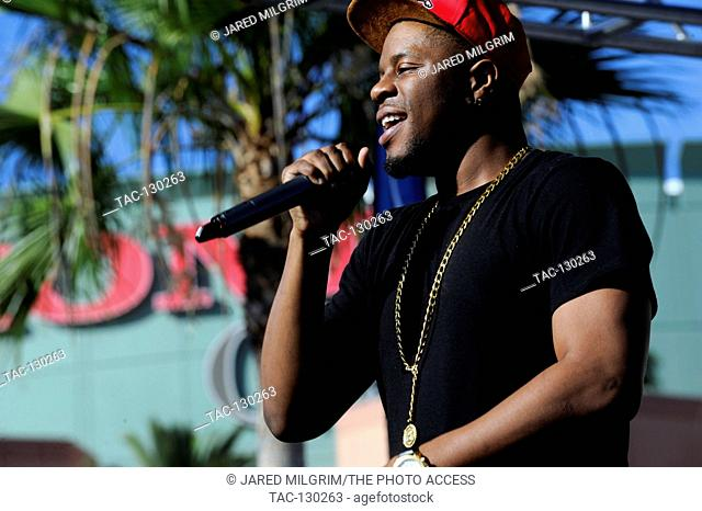 Dorrough performs at the 2013 Power 106 Powerhouse concert new at 2 stage at the Honda Center in Anaheim, California