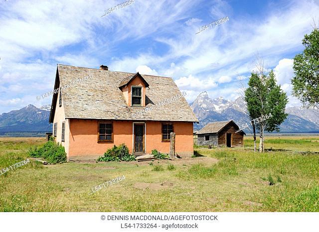 Mormon Row Pink House Grand Teton National Park Wyoming WY United States