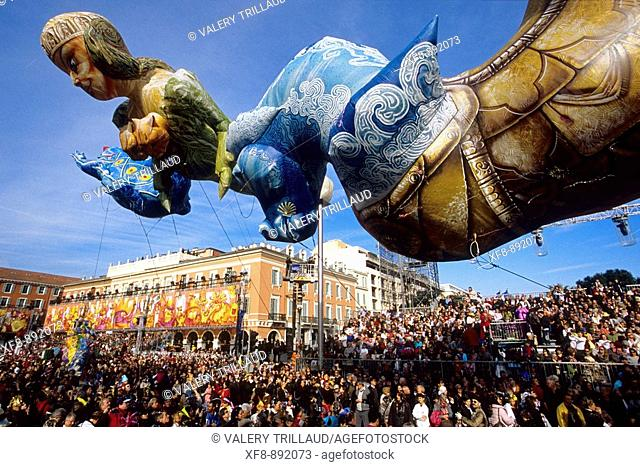 The carnival of Nice in the place Massena Alpes-Maritimes 06 PACA FRance Europe