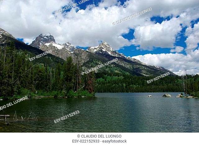 Lake and Grand Teton mountains, Grand Teton National Park, Wyoming