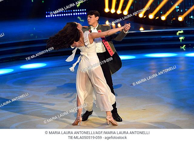 Marco Leonardi during the performance at the tv show Ballando con le stelle (Dancing with the stars) Rome, ITALY-04-05-2019