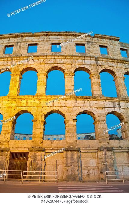 Pula Arena, Roman era amphitheatre, Pula, Istria, Croatia
