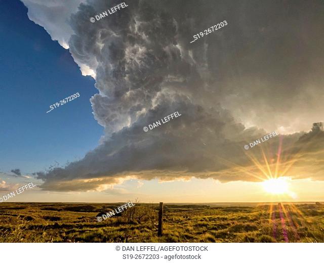 Super Cell Storm Sunset
