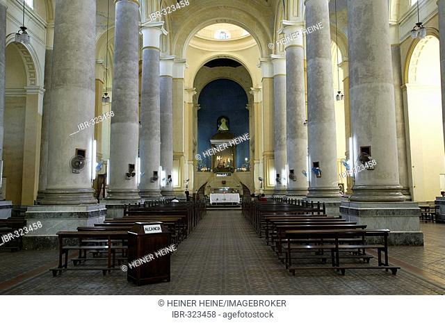 Church Iglesia de la Encarnation, interior view of the nave, Asuncion, South America