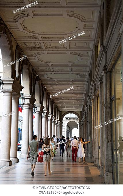 Shopping on Via Roma Street, Turin