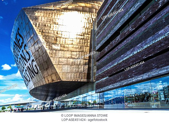 The Wales Millennium Centre in Cardiff Bay
