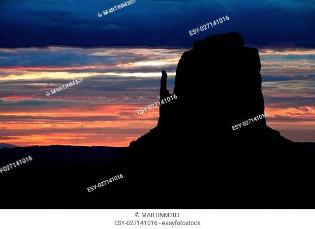 Monument valley detail sunrise, Arizona, USA
