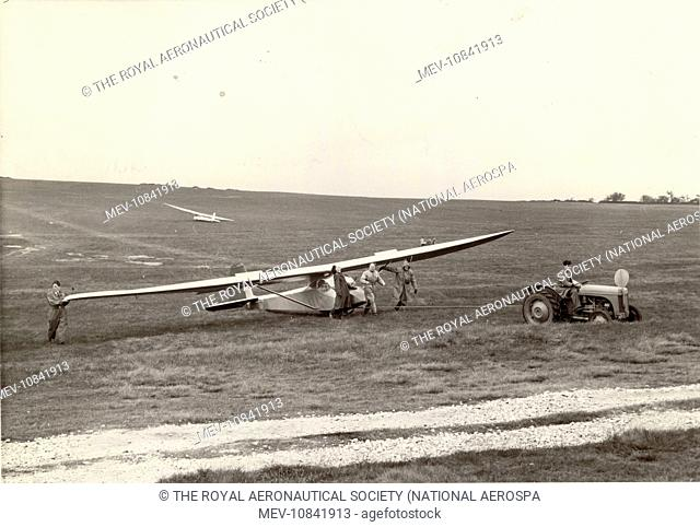 Slingsby Type 21B Sedbergh at the gliding championships at Great Hucklow, Derbyshire. July 1954
