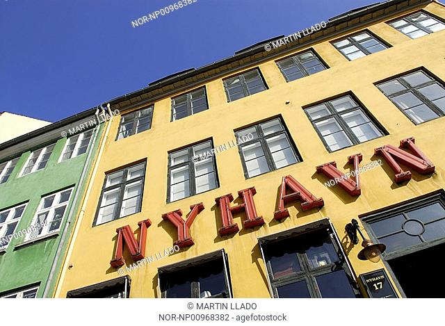 The yellow house at Nyhavn 17, Copenhagen, Denmark