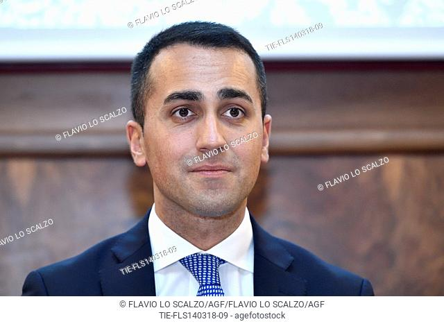 Italian leader of 5 Star Movement Luigi Di Maio during the meeting with Confcommercio,Milan,ITALY-14-03-2018