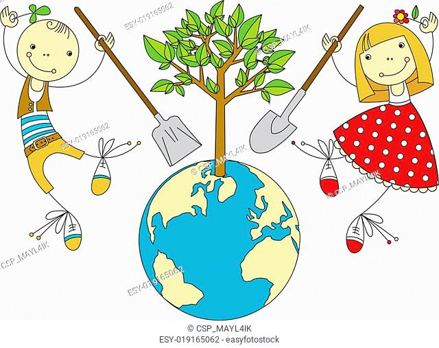 Children Plant for Planet