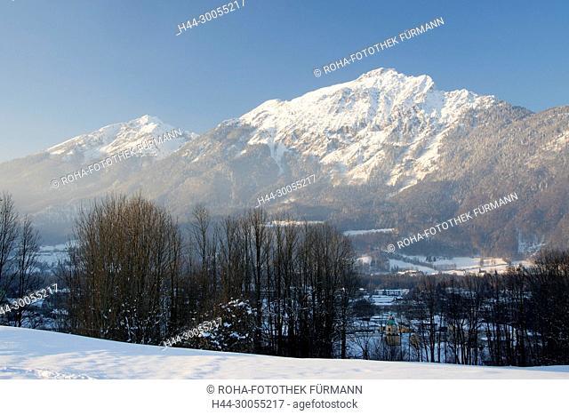 Bayern, Berchtesgadener Land, Berchtesgaden, Bad Reichenhall, Bayerisch Gmain, Reichenhall, Winter, Schnee, Eis, kalt, Kälte, Kaelte, Berg, Berge, Gebirge