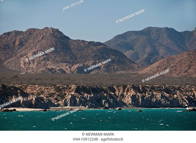 cabo pulmo, national marine park, Baja California, Mexico, landscape, rocks, sea, nature, coast