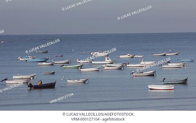 Caleta beach and Baths of la Palma y del Real.Cádiz, Andalusia, Spain