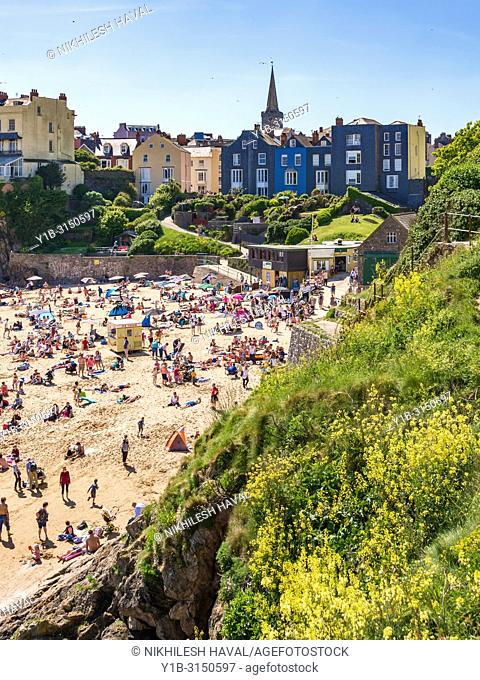 Castle Beach, Tenby, Wales, UK