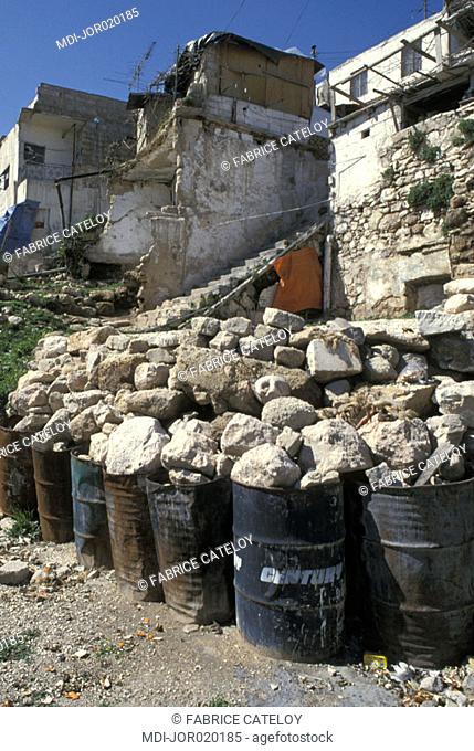 Modest houses of the steep sides of Djebel al-Qalaa