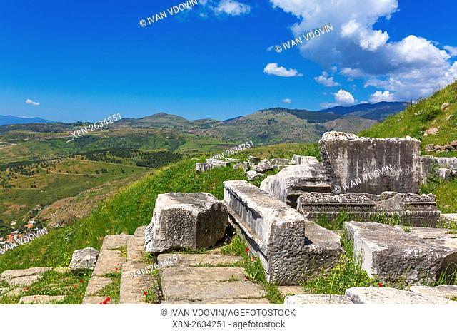 Temple of Dionysus, Pergamon, Bergama, Izmir Province, Turkey