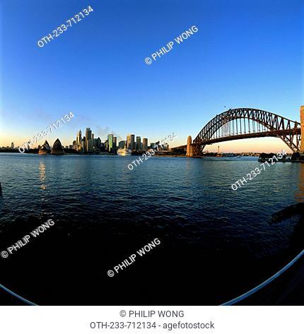 Sydney skyline at dawn, Australia