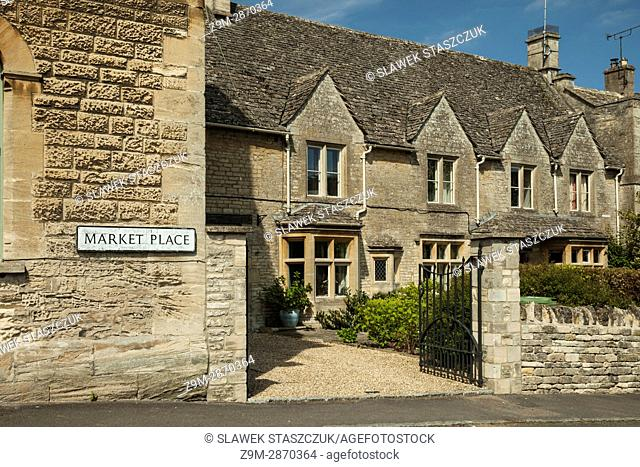 Spring afternoon in the small town of Northleach in the Cotswolds, England