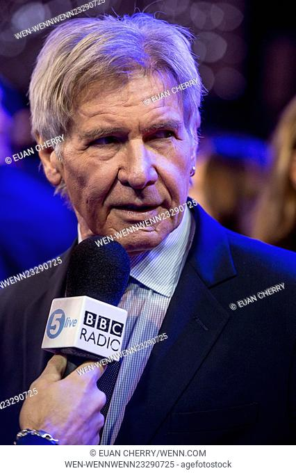 European premiere of 'Star Wars: The Force Awakens' - Red Carpet Arrivals Featuring: Harrison Ford Where: London, United Kingdom When: 16 Dec 2015 Credit: Euan...