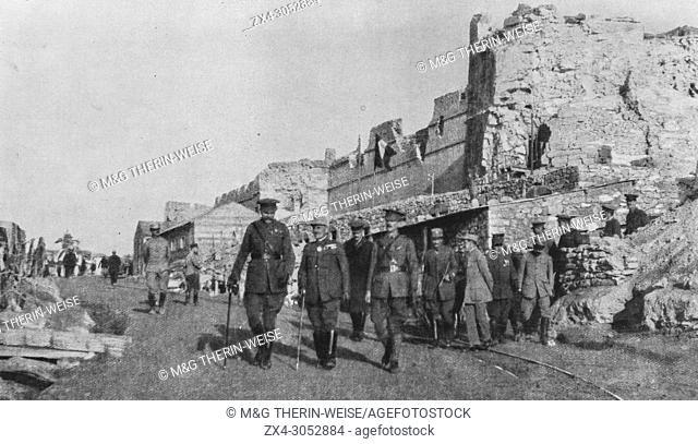 Lord Kitchener visiting Sedd el Bahr during the Dardanelles expedition, 1915, Turkey