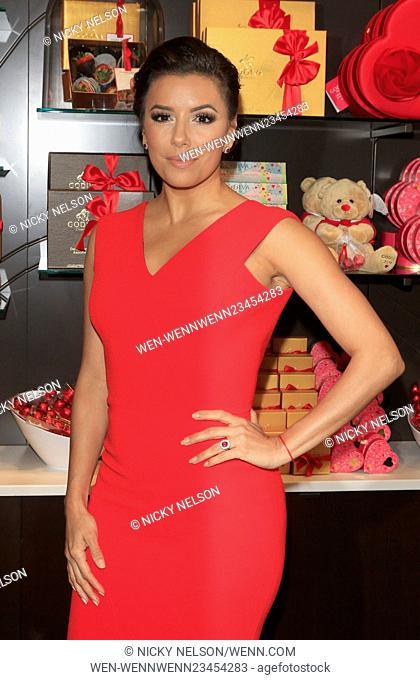 Eva Longoria celebrates Valentine's Day with Godiva at Godiva Chocolatier Featuring: Eva Longoria Where: Glendale, California