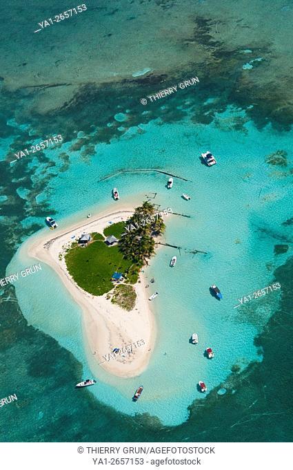 France, Guadeloupe Island, Sainte Rose, Grand cul de sac marin, Caret islet