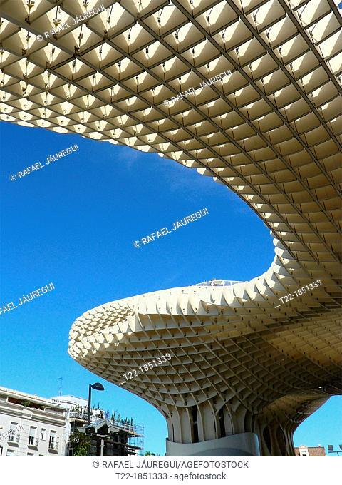 Sevilla Spain  Metropol Parasol in the square of the Encarnacion in Seville