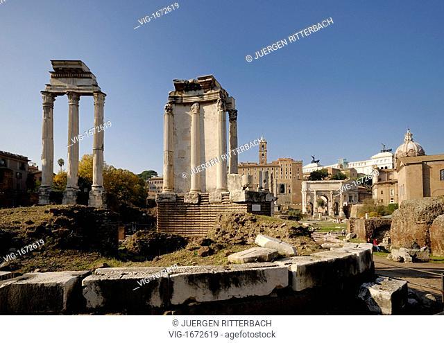 ITALY, ROME, 23.11.2008, Temple of Vesta, Roman Forum, Rome, Italy, Europe - ROME, ITALY, 23/11/2008