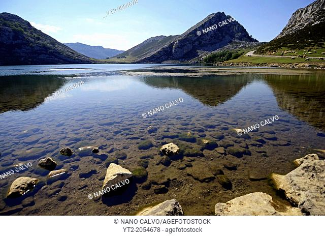 Lakes of Covadonga in Asturias