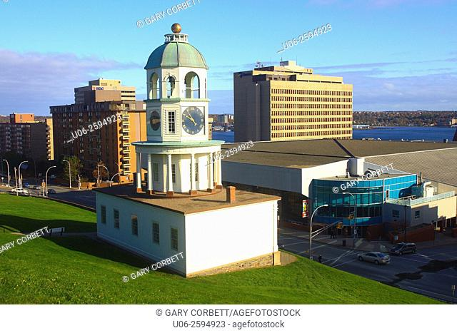 The old town clock at Halifax, Nova Scotia, Canada