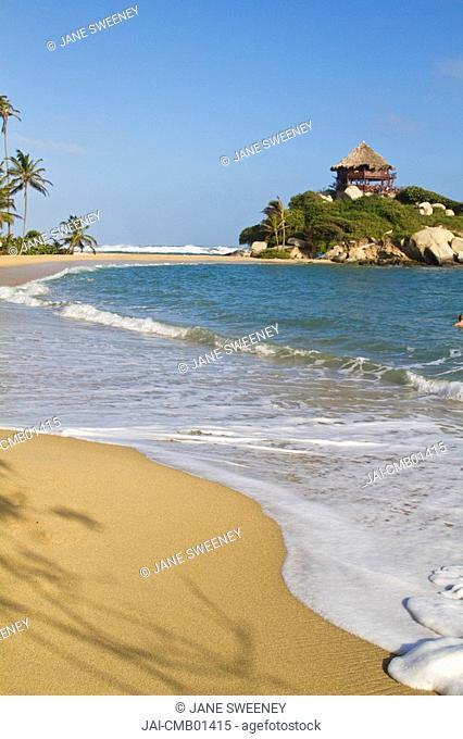 Colombia, Magdalena, Park Nacional Natural Tayrona - Tayrona National Park,Cabo San Suan de la Guia beach, Cabana