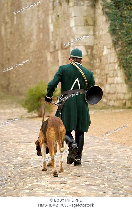 France, Indre et Loire, Loire Valley listed as World Heritage by UNESCO, château d'Amboise, Saint-Hubert feast, the patron saint of hunters
