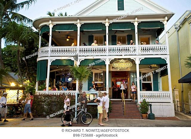 Bagatelle Island Rest. Duval St., Key West, Florida, USA