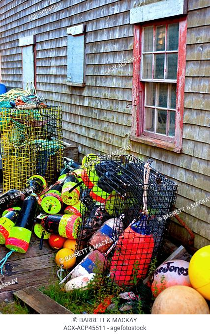 Fishing shed, Seal Cove, Grand Manan Island,Bay of Fundy, New Brunswick, Canada
