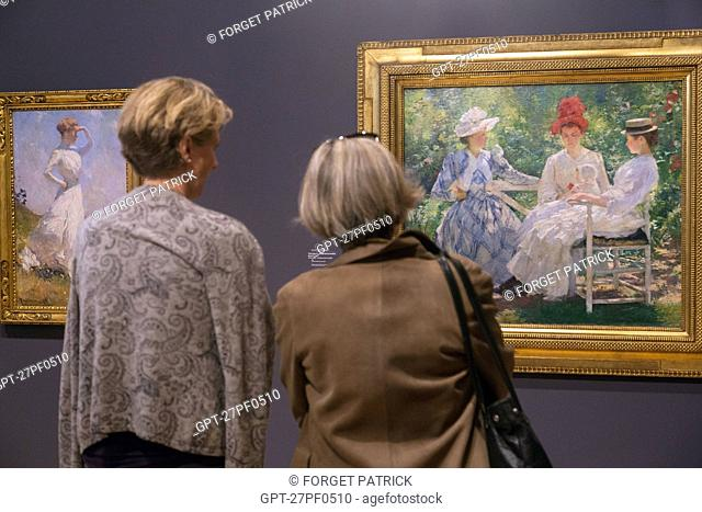 THREE SISTERS – STUDY IN LIGHT, 1890, PAINTING BY EDMUND TARBELL,EXHIBITION 'IMPRESSIONISM AND THE AMERICANS', MUSEUM OF IMPRESSIONISM, GIVERNY, EURE (27)