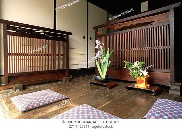 Japan, Central Honshu, Kiso Valley, Tsumago, old house, interior