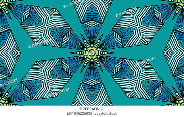 Seamless striped vector pattern. Colored decorative repainting background with tribal and ethnic motifs. Abstract geometric roughly hatched detailed shapes with...