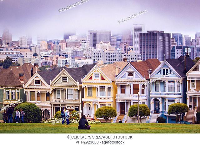 Alamo Square, Painted Ladies, San Francisco, California