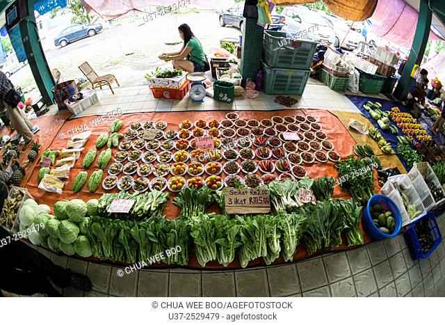Lundu vegetables market, Sarawak, Malaysia