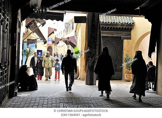alley of the medina, Meknes, Morocco, North Africa