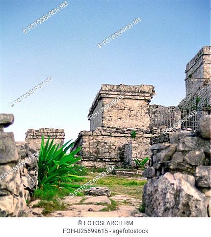 yucatan, ruins, hispanic, mexico, tulum, mayan