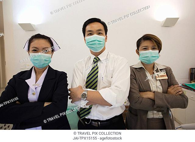 Thailand, Bangkok, Hospital Doctor and Nurses