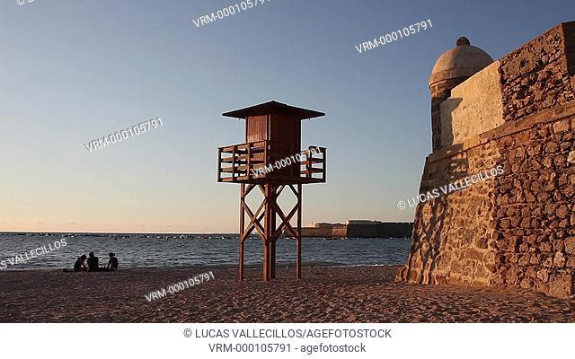 Caleta beach.Cádiz, Andalusia, Spain