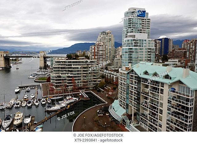 waterfront properties at false creek Vancouver BC Canada