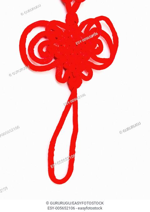 Red tassels of China knot - a kind of adornment in festival